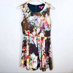 Betsey Johnson   Floral Fit & Flare Photo Dress